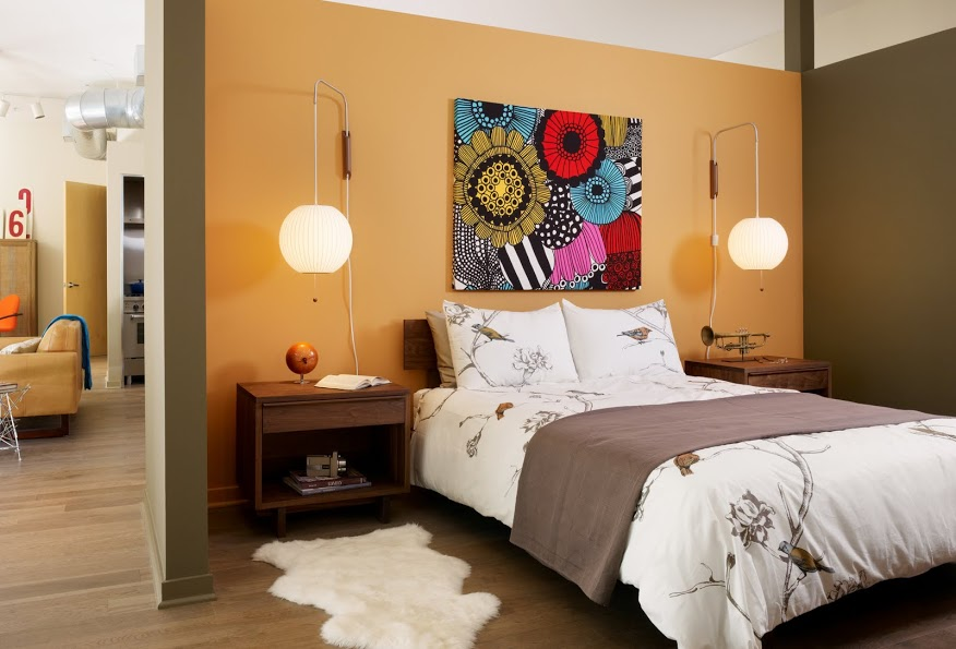 Hip young personal profiles inspire l a loft decor for Hanging bedroom