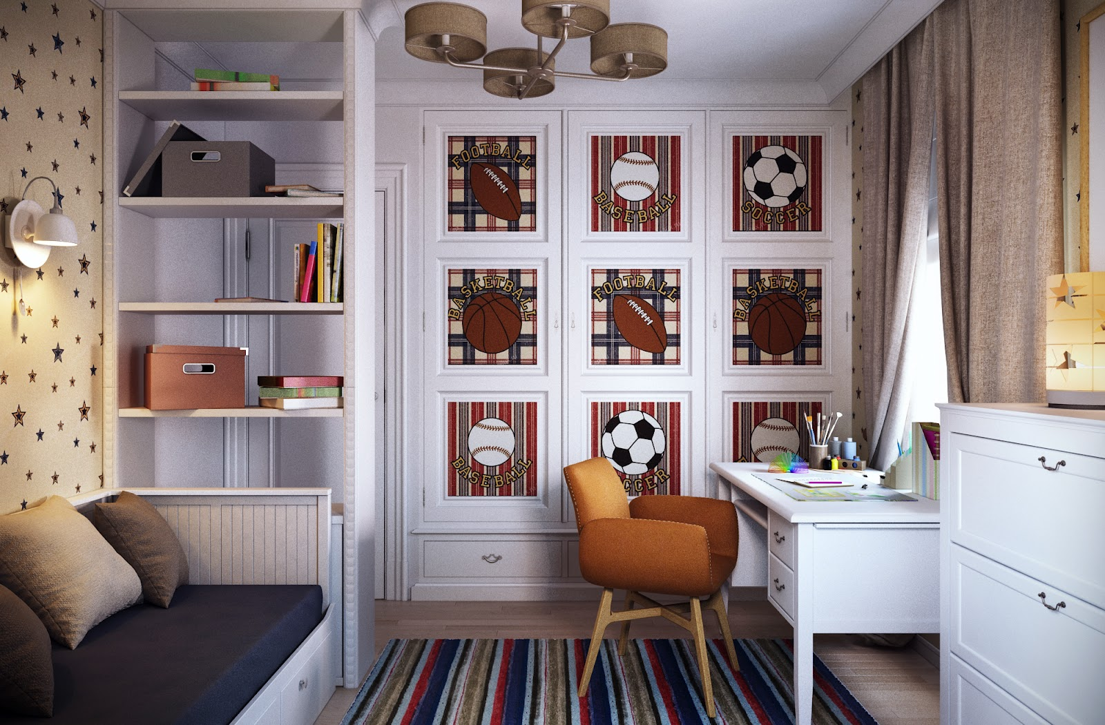 Traditional Boys Room Interior Design Ideas