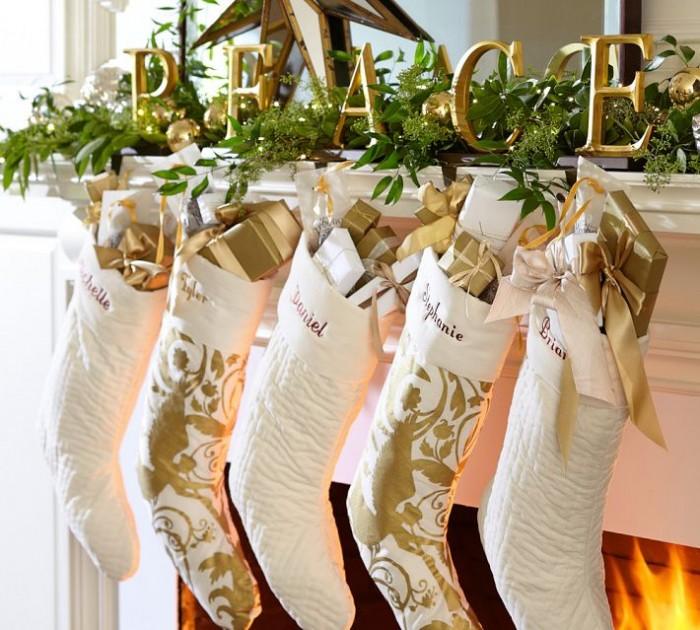 white and gold mantel decorations ideas