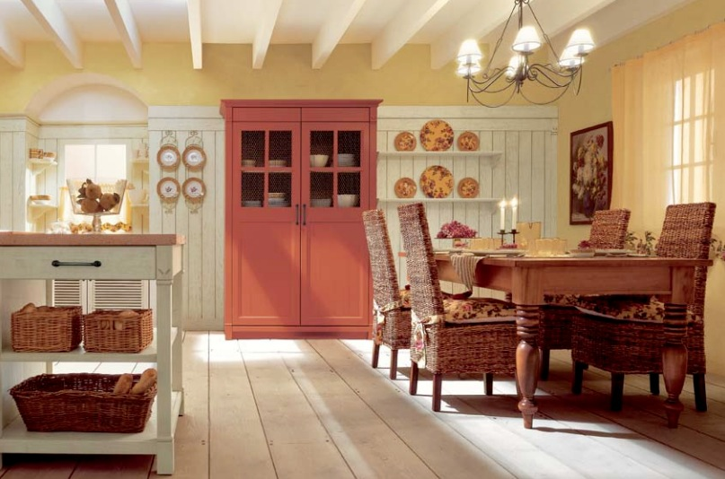 Red Country Kitchen Decorating Ideas 2327456405