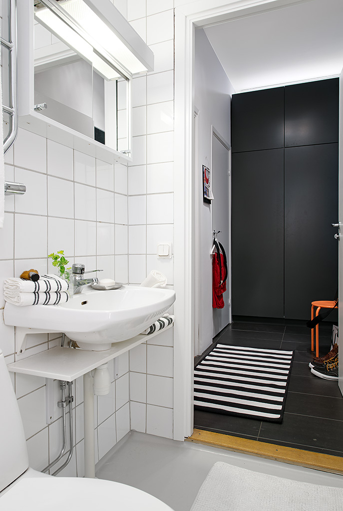 Black and white bathroom ideas interior design ideas for Small bathroom design black and white