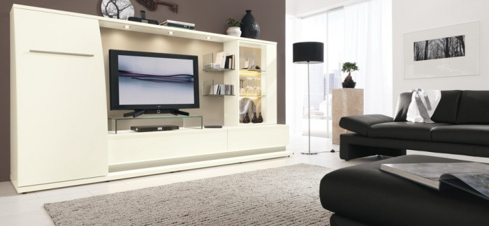 black modern living furniture