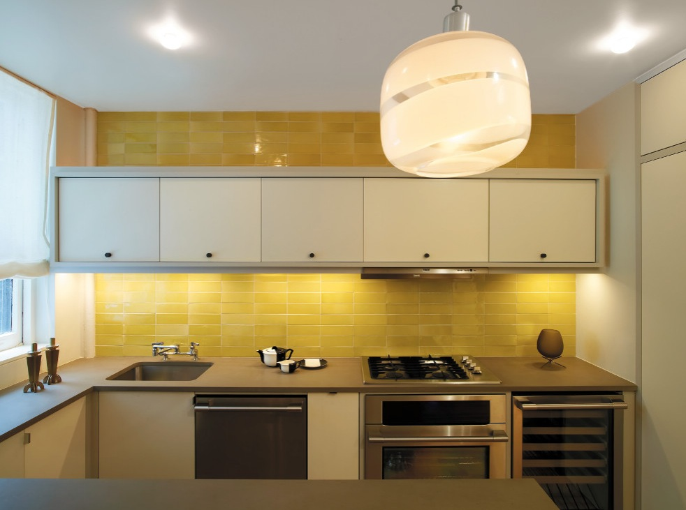 50 kitchen backsplash ideas Kitchen design yellow and white