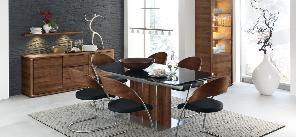 30 modern dining rooms for Dining table interior design