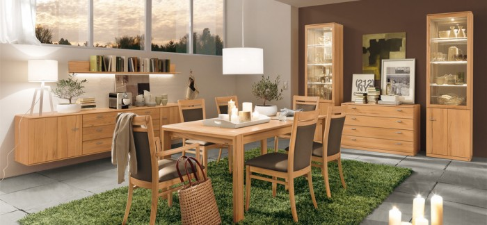 dining set modern wood