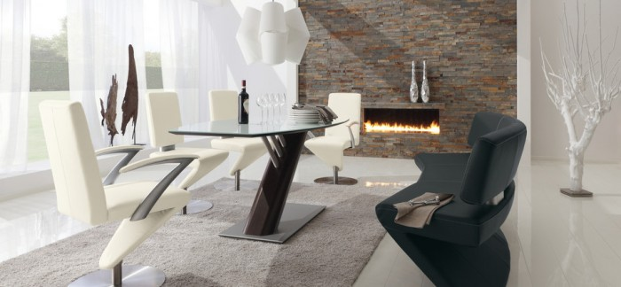 edgy dining room set modern