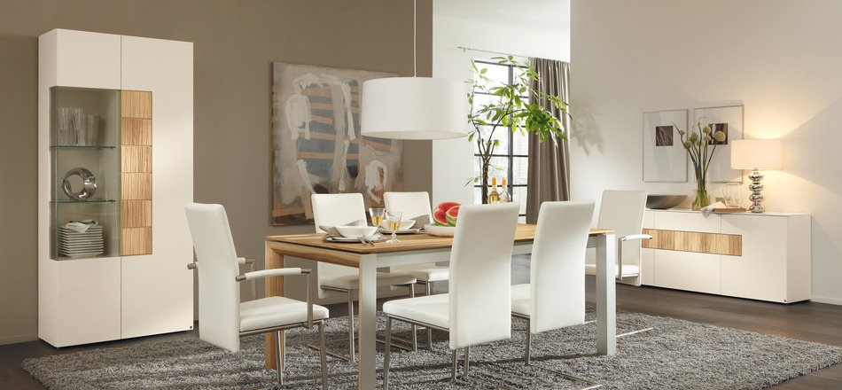 White Modern Dining Room 30 modern dining rooms