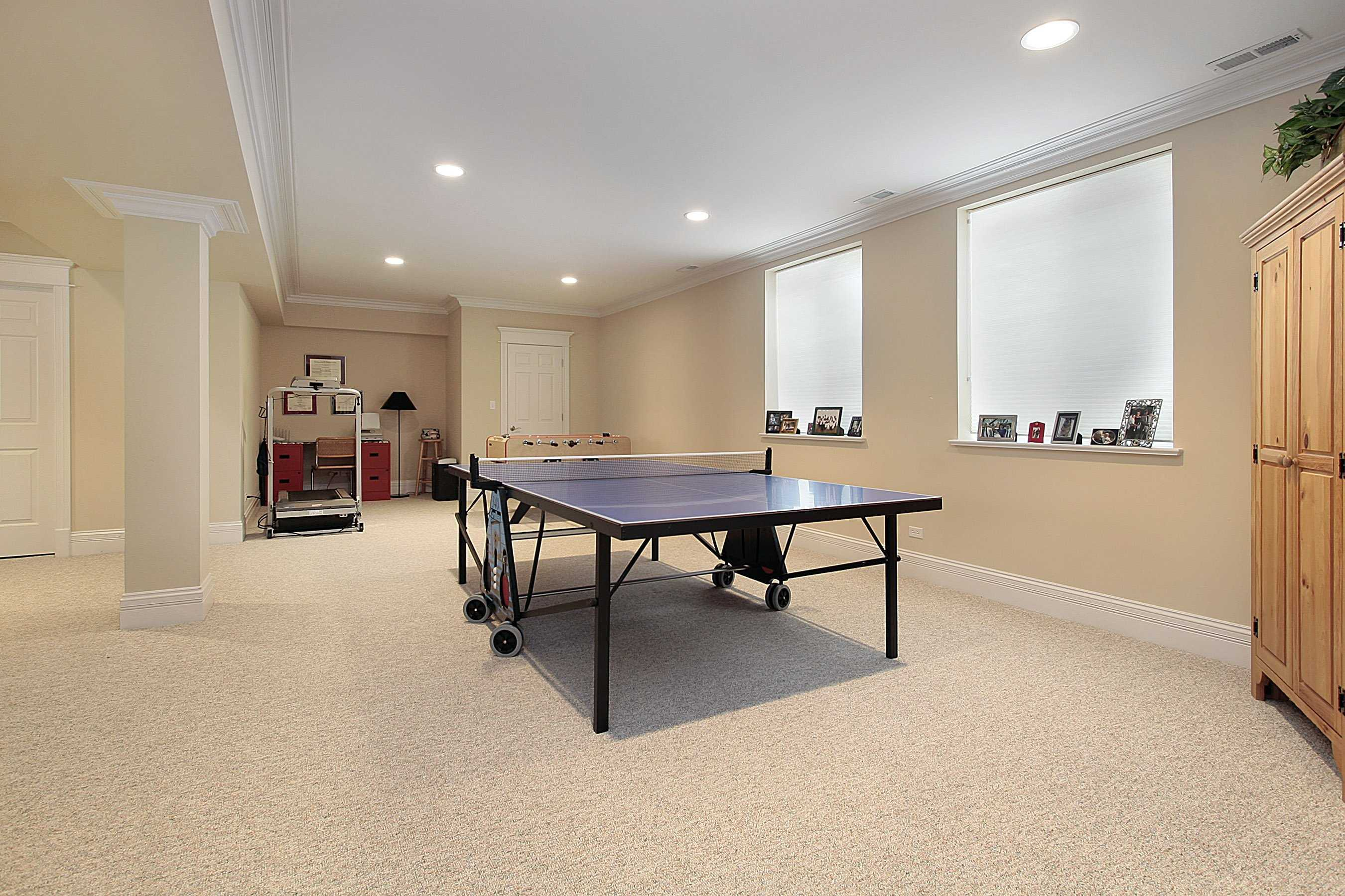 delightful Popular Color to Paint a Basement Game Room photo
