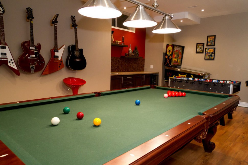 superior Game Room Basement home design ideas
