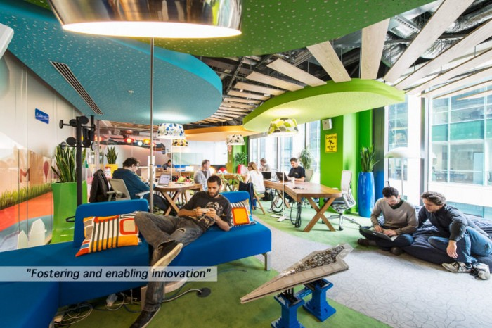 Google 39 s new office in dublin for Interior design companies in usa