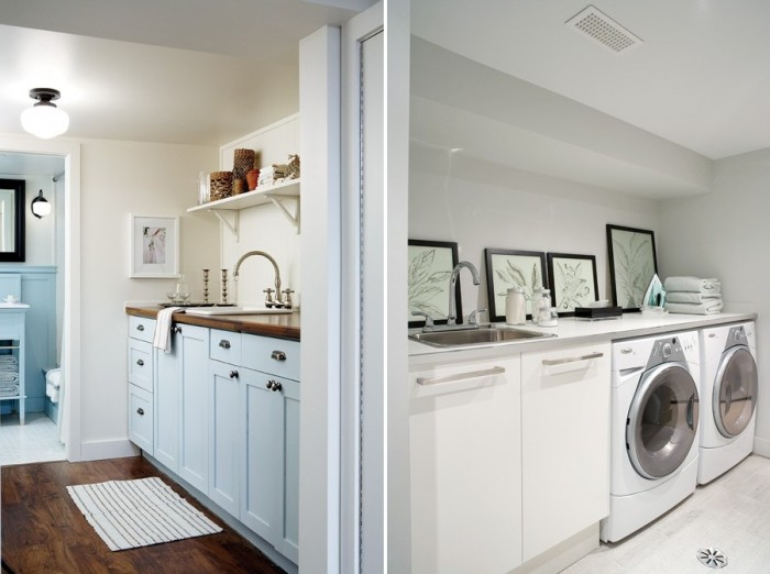 Forget the days of unfinished laundry rooms in dark, damp basements, who wouldn't love doing laundry in these spaces?