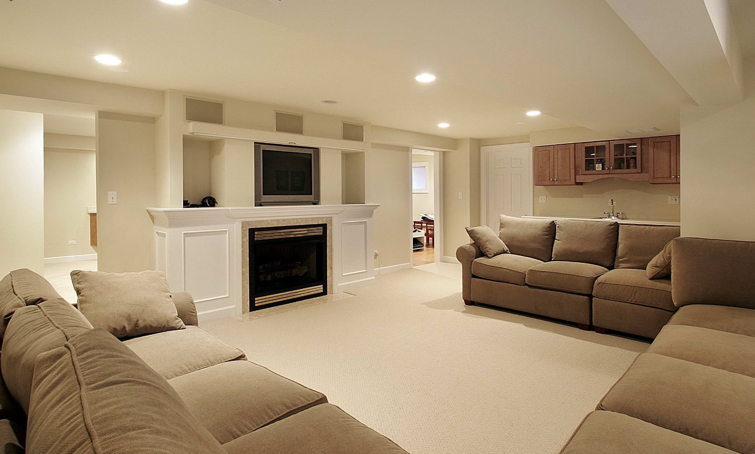 30 basement remodeling ideas inspiration for Living room remodel ideas