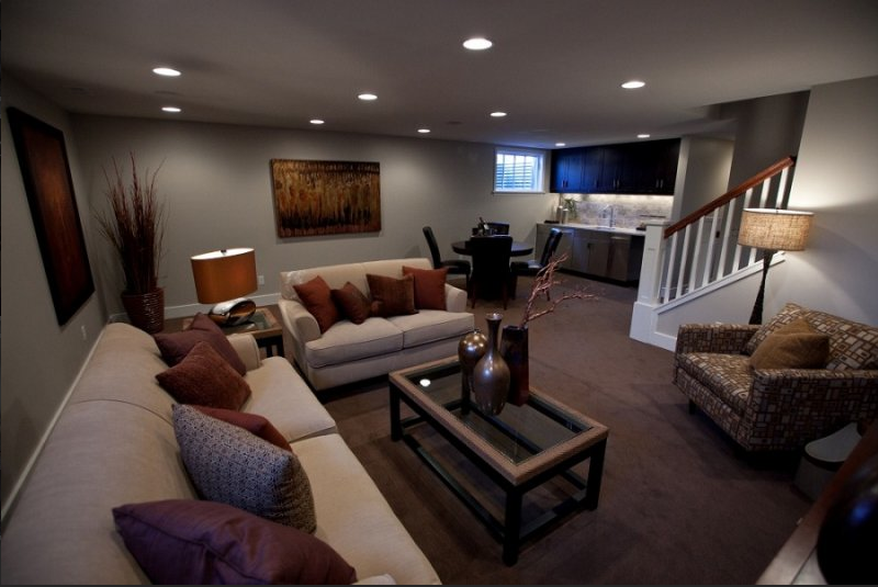30 basement remodeling ideas inspiration for Living room renovation ideas