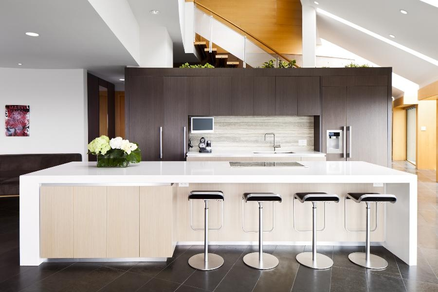 Modern Kitchen Marble Countertop Counter With Light Wood To Ideas