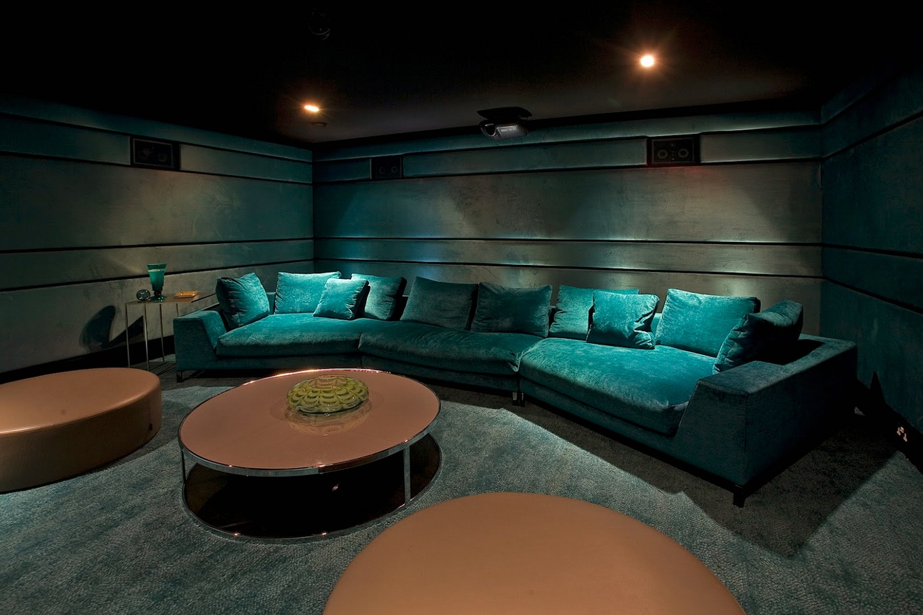 30 basement remodeling ideas inspiration - Home Media Room Designs