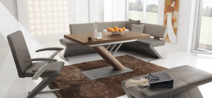 modern dining banquette