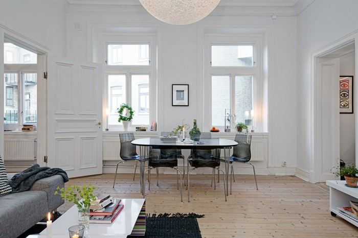 modern swedish dining room