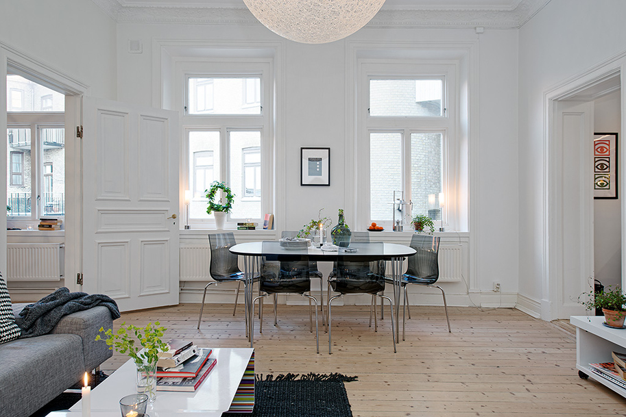 Modern swedish dining room interior design ideas for New swedish design