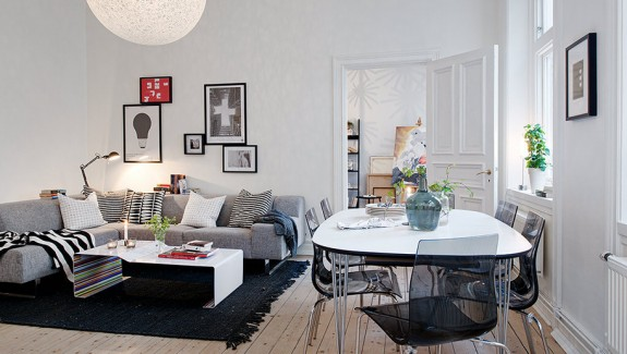 Swedish Apartment Boasts Exciting Mix of Old and New