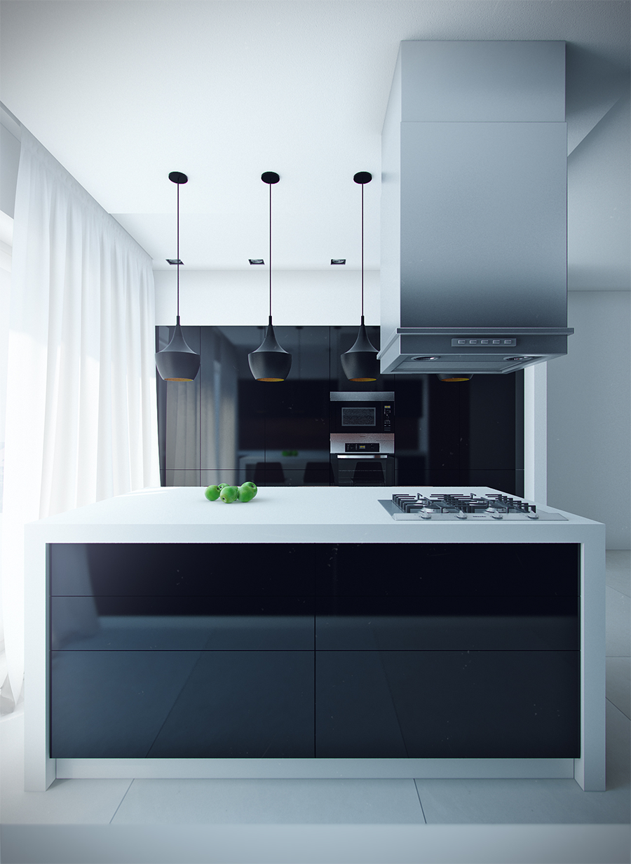 12 modern eat in kitchen designs for Kichan dizain
