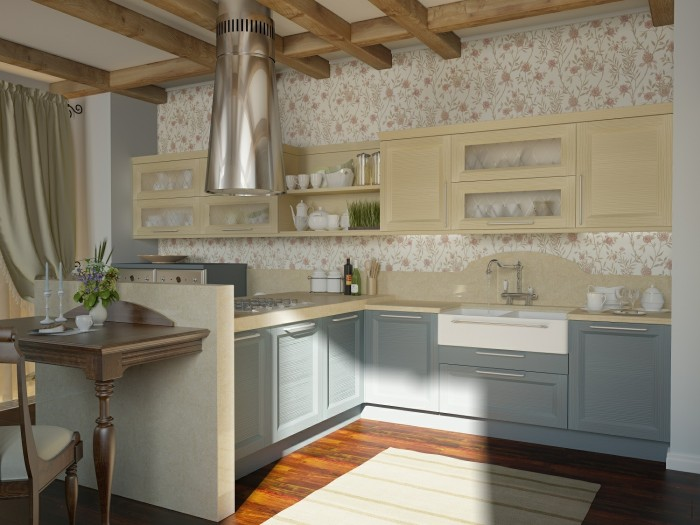 traditional kitchen floral motif 2