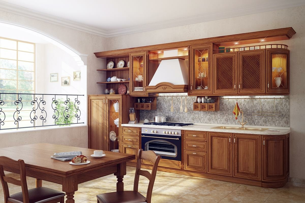 11 luxurious traditional kitchens for Kitchen set kayu