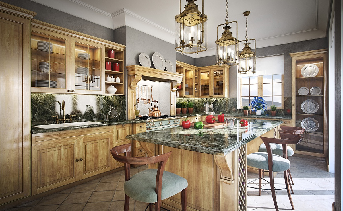 11 luxurious traditional kitchens for Traditional rustic kitchen