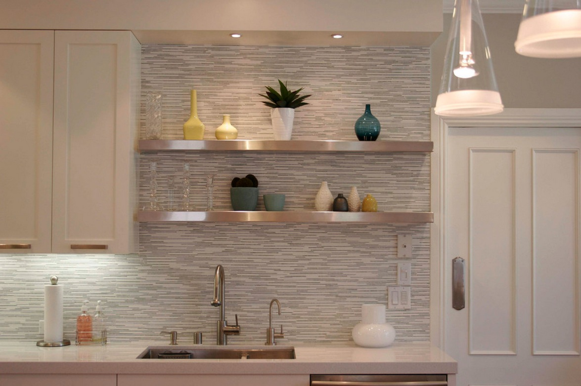 kitchen wall tiles design  white horizontal tile backsplash