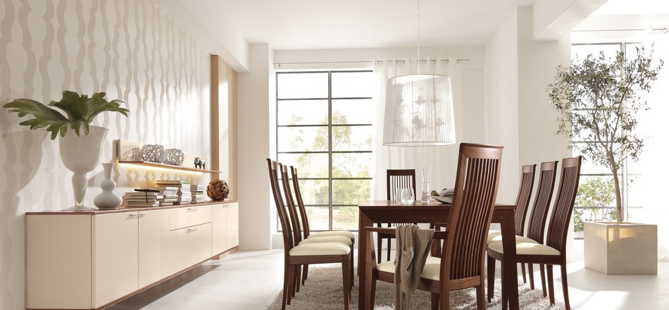 Modern Dining Rooms - Contemporary wooden dining chairs