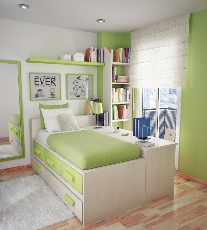 Green Teenage Bedroom Ideas New Decorating