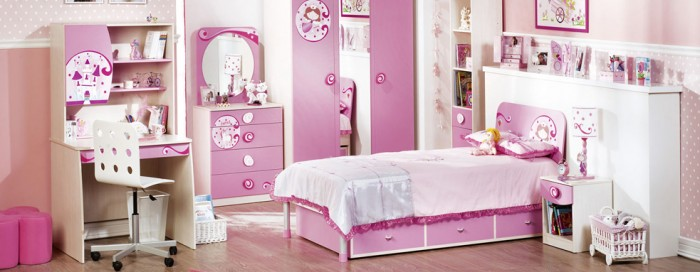 Beautiful Girls Bedroom With Design Ideas
