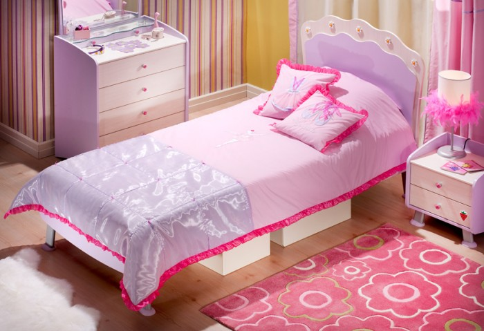 Great Pink is a perennial favorite of big and little girls around the world This preteen girls room boasts this bright color in a big way