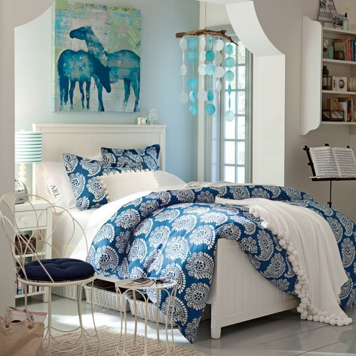 blue teen bedroom - photo #30