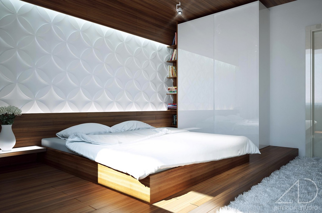 Modern bedroom ideas for White bed interior design
