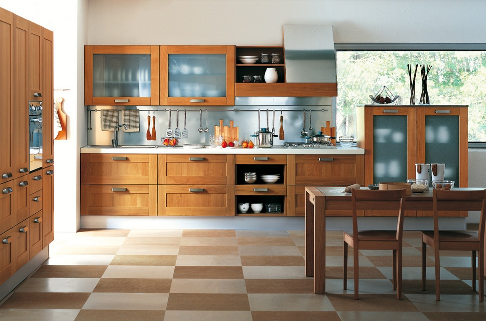 Kitchens from italian maker ged cucine for Kitchen wall cabinets