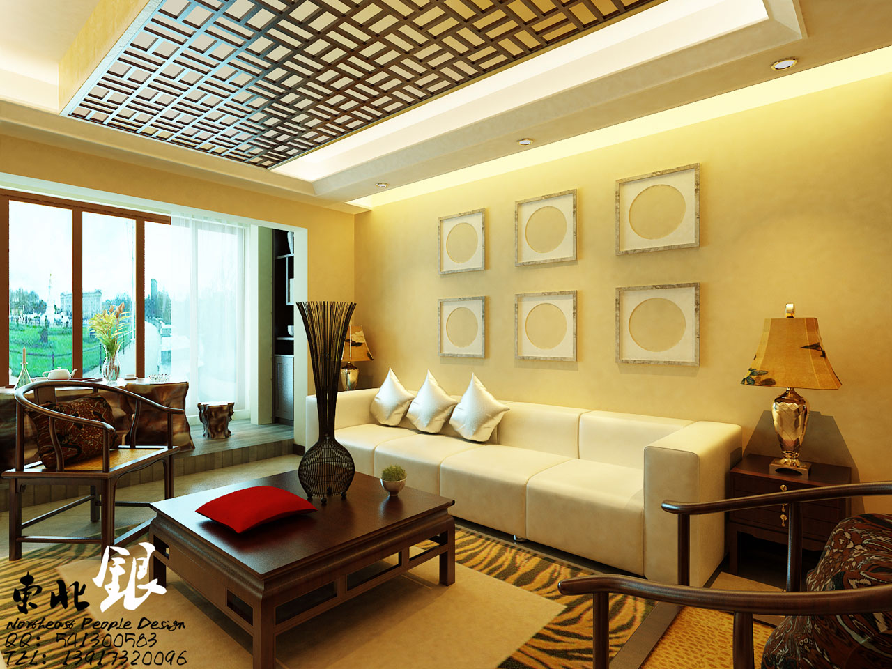 Asian inspired wall art interior design ideas for Asian living room designs