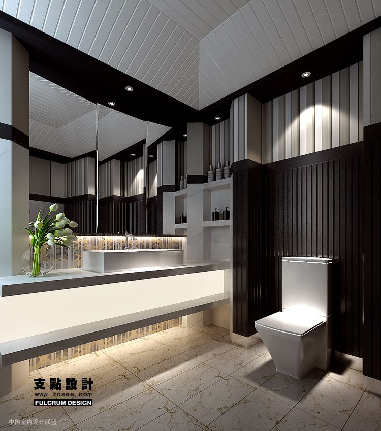Black and white bathroom interior design ideas for Bathroom interior design white