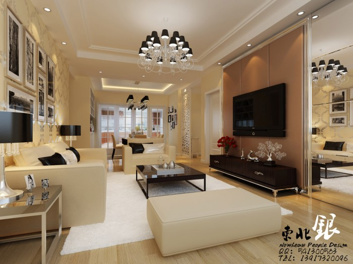 chinese beige living room