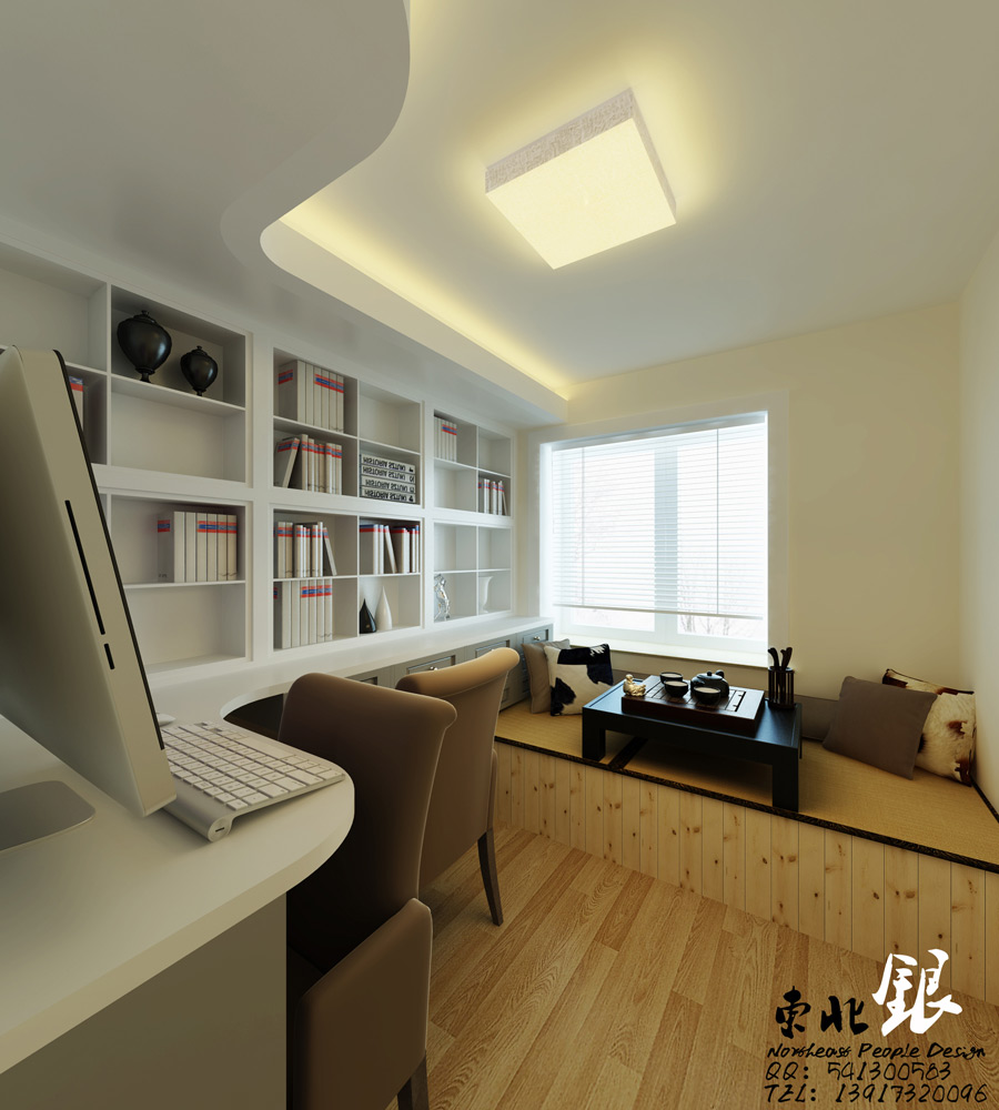 chinese style home office bedroomendearing styling white office