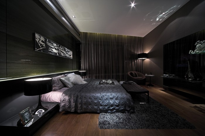 darkened slate bedroom steve leung