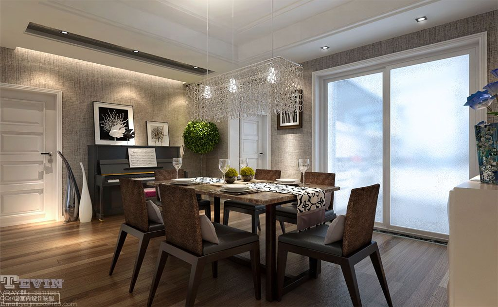 Dining room pendant lighting interior design ideas for Dining room lighting ideas