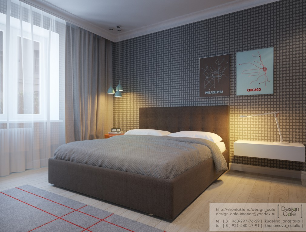 Young family apartment bedroom master 2 interior design for 2 master bedroom apartments