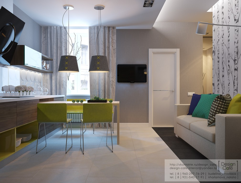 Apartment for a young family for Young modern living room