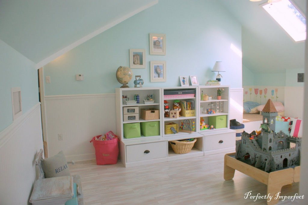 A perfectplay soft attic style child s room Playroom flooring ideas