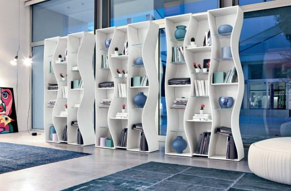 Angelo Tomaiuolo-Onda Book Shelves Blue