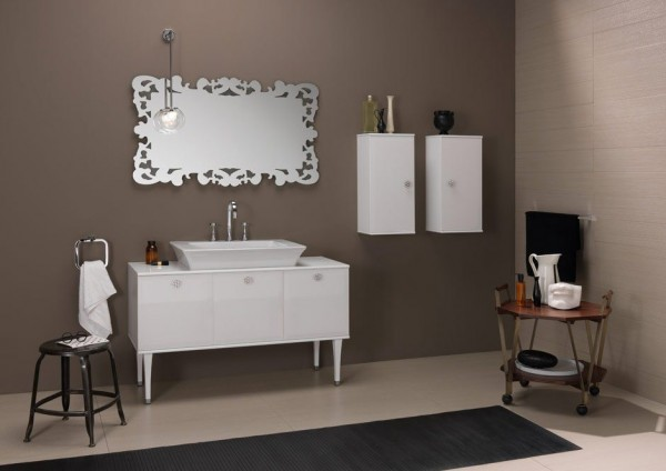 Bruna Rapisarda taupe and silver theme bathroom