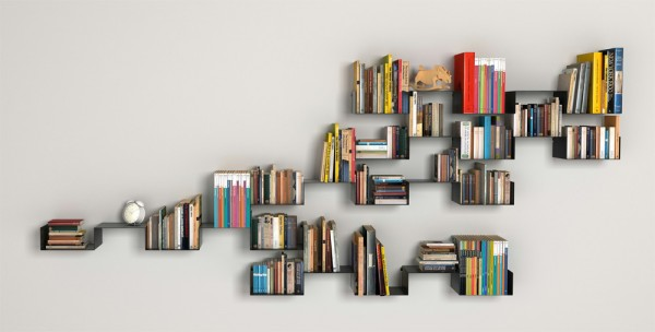 Carme Pinos- Moni book shelves black