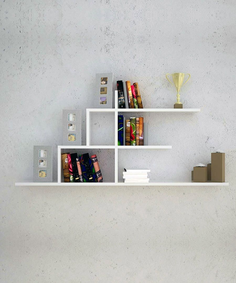 wall mounted bookshelf design