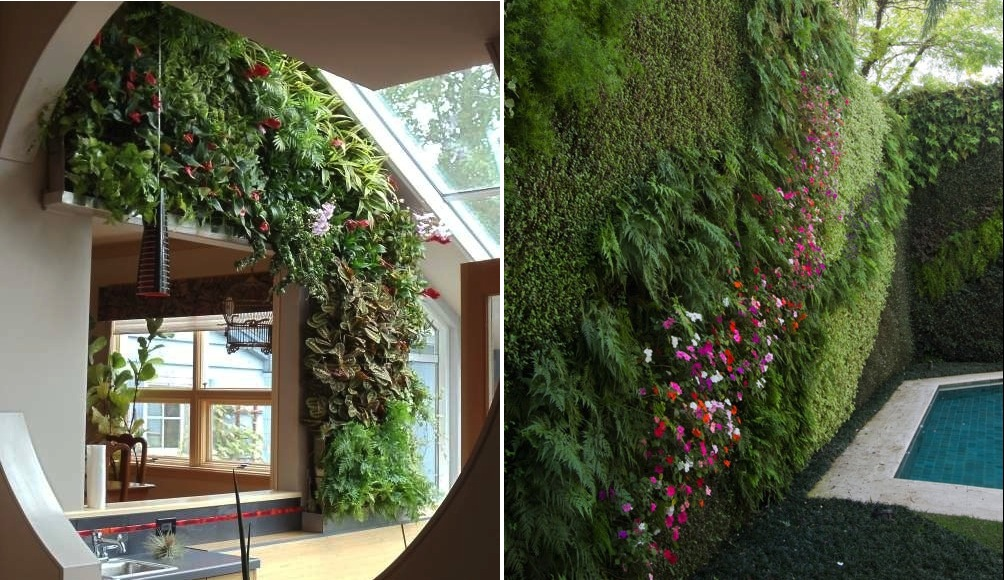 outdoor residential vertical gardens