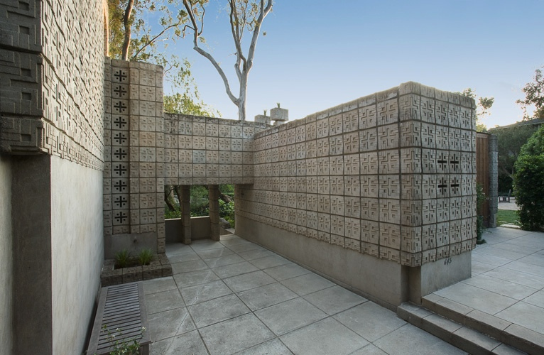Frank lloyd wright 39 s millard house for sale for Concrete block construction homes